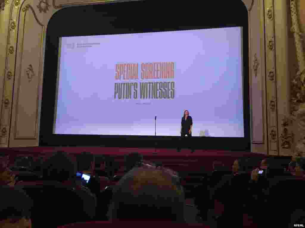 Putin's Witnesses screened at the Riga International Film Festival on October 23, 2018.
