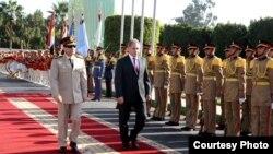 استقبال مصري رسمي لوزير دفاع روسيا سيرغي شويغو