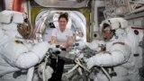 سه فضانورد آمریکایی در ایستگاه فضایی بینالمللی