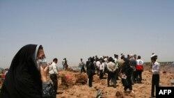 سایت سانحه هواپیمای توپولف شرکت کاسپین در نزدیکی قزوین