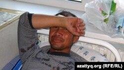 Ақтөбе облыстық ауруханасында жатқан қытай азаматы Хуан Хун Фу. 19 қыркүйек 2010 жыл.