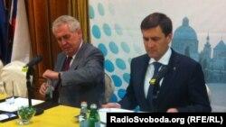 Мілош Земан (л) і Андрій Шишацький