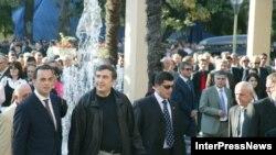 Президент Михаил Саакашвили Батумиде. 2006-жыл.