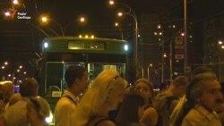 Жителі Оболоні протестують проти будівництва ТРЦ над станцією метро (відео)