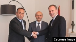 Ramush Haradinaj, Isa Mustafa and Fatmir Limaj