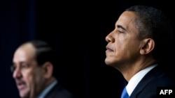 Барак Обама и премьер-министр Ирака Нури аль-Малики