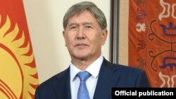 Қырғызстан президенті Алмазбек Атамбаев. Бішкек, шілде 2014 жыл.