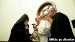Армения - Папа Римский Франциск в Св. Эчмиадзине, 24 июня, 2016 г.