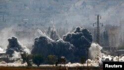 Вибухи після бомбардування позицій ісламістів, 28 жовтня 2014
