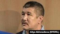 Сағындық Именов, қаза тапқан шекарашы Мейірхан Именовтің әкесі. Талдықорған, 19 қараша 2012 жыл