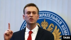 Алексей Навальный в ЦИК РФ. 25 декабря