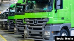 Грузовые машины, произведенные германским автоконцерном Daimler.