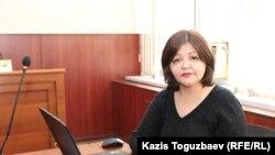 Адвокат осуждённой по обвинениям в «возбуждении религиозной розни» и «пропаганде терроризма» Жанны Умировой Айман Умарова. Алматы, 4 марта 2019 года.