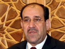 Syria - Iraqi Prime Minister Nuri al-Maliki speaks to reporters in Damascus, 21Aug2007