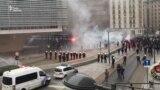 Фламандські активісти та футбольні хулігани. Протести у Брюсселі тривають