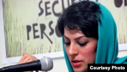 November 15: Day of the Imprisoned Writer. Iran -- Shiva Nazar Ahari, one of Iranian woman rights activist who was held in Evin prison for several months, undated