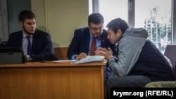 Одне із попередніх засідань суду в Херсоні у справі Кирила Вишинського, листопад 2018 року