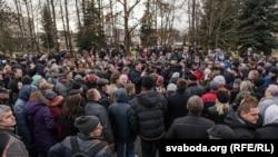 Акцыя супраць дэкрэту «пра дармаедаў» у Горадні