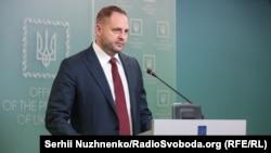 Брифінг керівника Офісу президента Андрія Єрмака в Києві, 12 лютого 2020 року