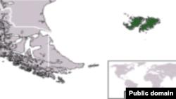 Мапа на Фокландските острови