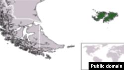 Мапа Фолклендських островів