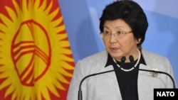 Kyrgyz President Roza Otunbaeva, pictured here in Brussels in February