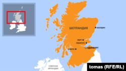 Карта Шотландии.