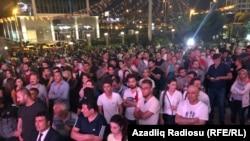 Сторонники оппозиции реагируют на результаты выборов в Турции, Анкара, 25 июня 2018 года.