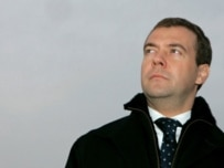 Dmitry Medvedev in Svetly, Kaliningrad Oblast, during one of his recent regional visits