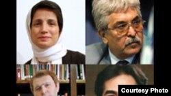 از چپ به راست: (ردیف اول) نسرین ستوده، محمد سیفزاده، (ردیف دوم) جاوید هوتن کیان و محمد اولیایی فرد