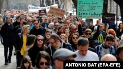 Protest novinara, medijskih radnika i aktivista u Zagrebu