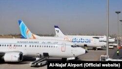 یک فروند هواپیمای ایرانایر در فرودگاه نجف