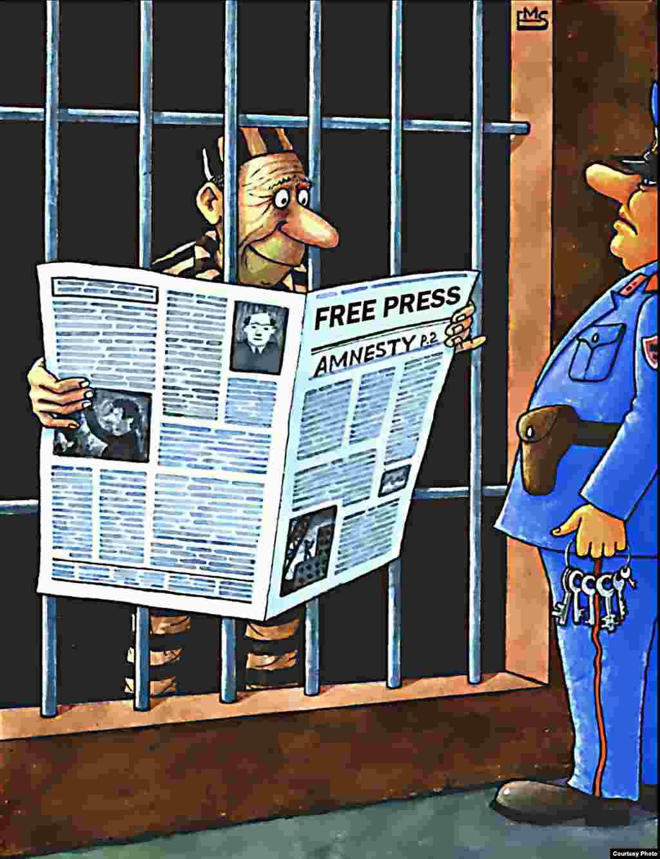 Атауы белгісіз карикатура. Авторы: Махмуджон Эшонкулов (Ташкент).