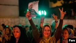 Iran Celebrations Erupt After Rohani Declared Victor