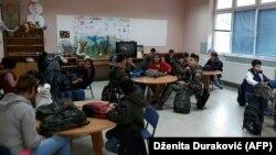 Djeca roditelja migranata u školskim klupama, Bihać