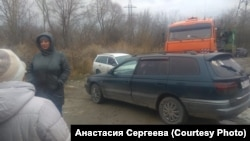 Протест жителей Новосибирска против песчаного карьера возле жилых домов