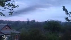 Сбитый вертолет в Славянске
