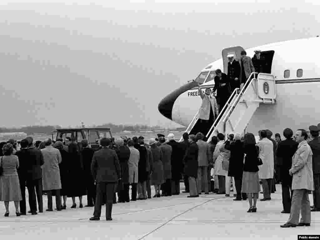 All 52 of the remaining hostages were eventually released on January 20, 1981, after 444 days in captivity. The freed Americans were welcomed at Andrews Air Force Base in Maryland on January 27, 1981.