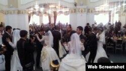 Одна из благотворительных свадеб, которые проводит Гульнара Каримова.