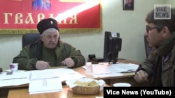 Микола Козіцин, лідер «Війська Донського», збройного формування російських «казаків», яке контролює частину Луганщини