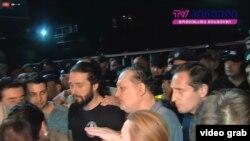 """Акция протеста у здания телекомпании """"Рустави 2"""" 8 июля 2019 года"""