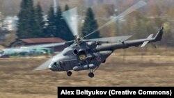 Ми-8 тик учагы (Иллюстрациялык сүрөт)