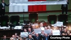 Protesti u Sejmu, donjem domu poljskog parlamenta