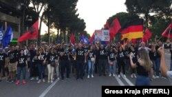 Pamje nga protestat e zhvilluara në Tiranë një javë më parë.