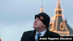 Борис Джонсон в Москве. 2017 год.