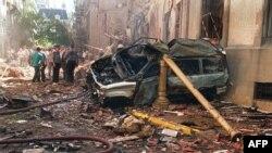 آثار انفجار در سفارت اسرائیل در شهر بوئنوس آیرس، آرژانتین