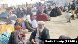 File Photo of displaced families from Ghour and Badghis provinces in Herat.
