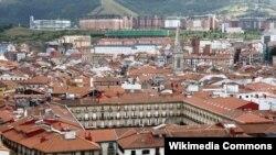 Город Бильбао в Испании, фактическая столица Страны Басков