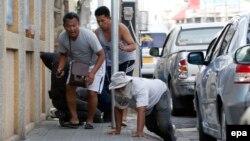 Momente gjatë një prej sulmeve me bomba në Tajlandë