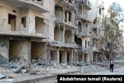Разрушения в сирийском городе Алеппо